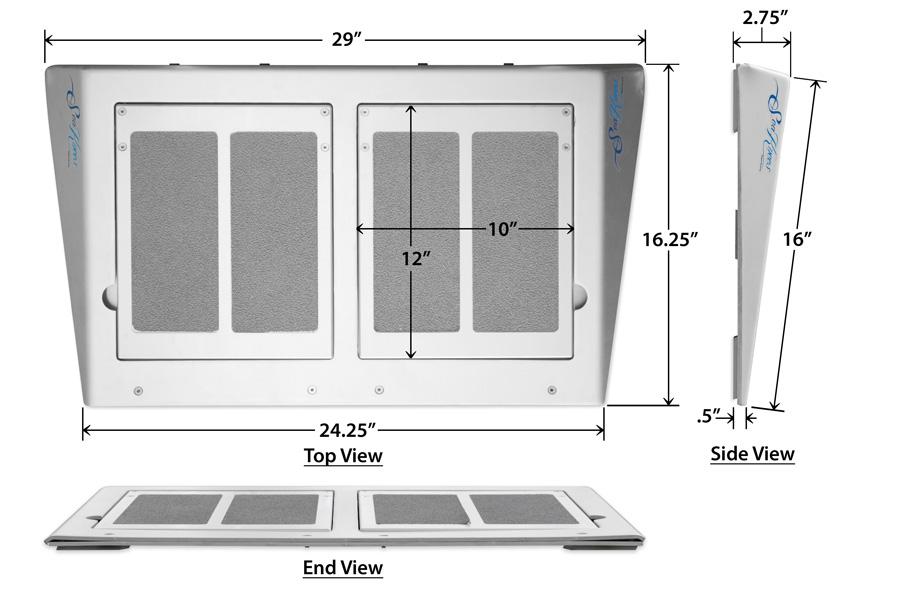 SeaKnees Angled Portable Specs