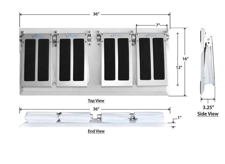 SeaKnees Double Flip Up Portable Model Specs
