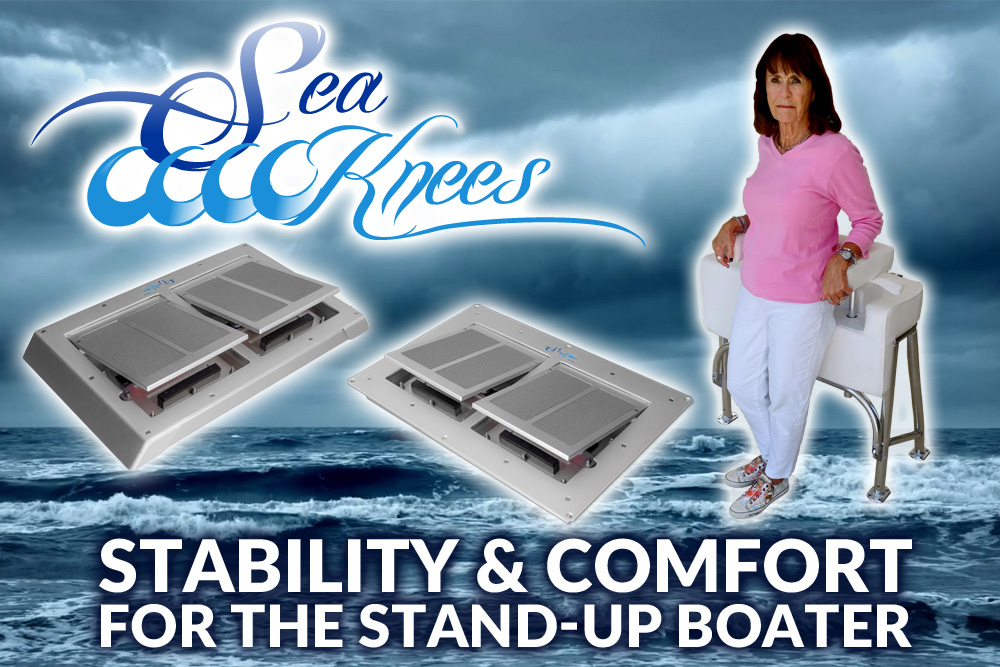 Hold-ster boat seat and Sea Knees boat shock mitigation